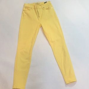 7 For All Mankind yellow skinny jeans, 27